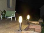 Pose de lumières extérieures à Mesnol Esnard